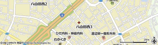 福島県郡山市八山田西周辺の地図