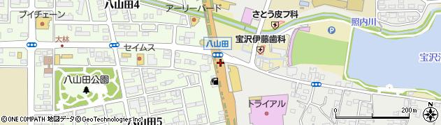 福島県郡山市富久山町八山田(三ツ壇)周辺の地図
