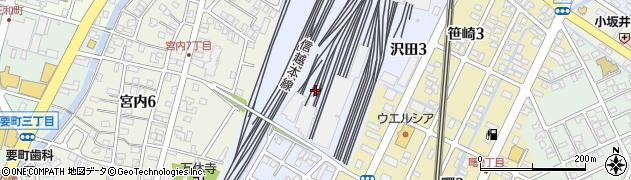 新潟県長岡市沢田周辺の地図