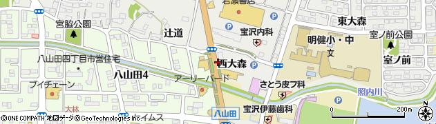 福島県郡山市富久山町八山田(沼前)周辺の地図
