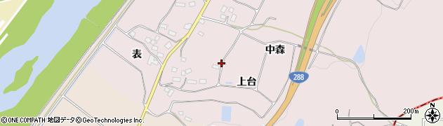 福島県郡山市富久山町堂坂(上台)周辺の地図