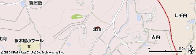 福島県郡山市西田町根木屋(北山)周辺の地図