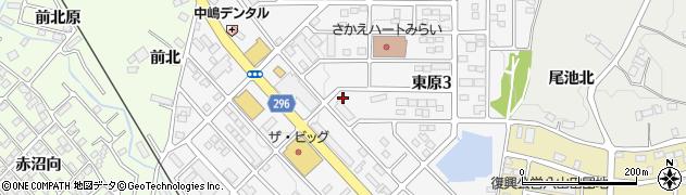 福島県郡山市東原周辺の地図