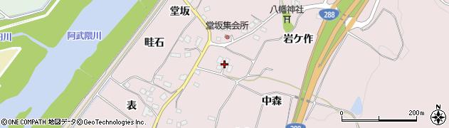 福島県郡山市富久山町堂坂(中森)周辺の地図