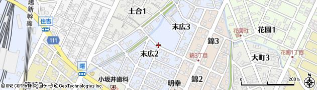 新潟県長岡市末広周辺の地図