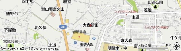 福島県郡山市富久山町八山田(大森新田)周辺の地図