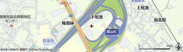 福島県郡山市喜久田町(下尾池)周辺の地図