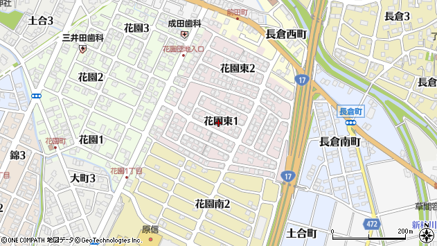 〒940-0846 新潟県長岡市花園東の地図