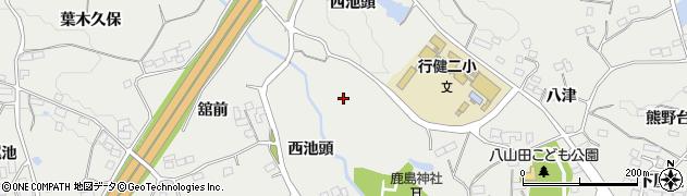 福島県郡山市富久山町八山田(鹿島舘)周辺の地図