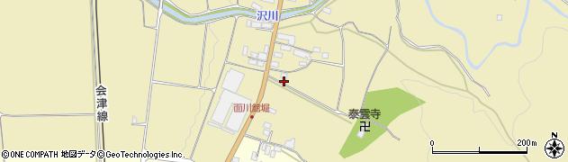 福島県会津若松市門田町大字面川(舘堀)周辺の地図