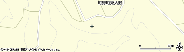 石川県輪島市町野町(東大野和田)周辺の地図