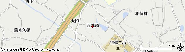 福島県郡山市富久山町八山田(西池頭)周辺の地図