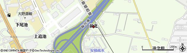 福島県郡山市喜久田町(前北)周辺の地図