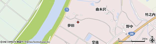 福島県郡山市富久山町堂坂(夢田)周辺の地図