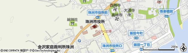 石川県珠洲市周辺の地図