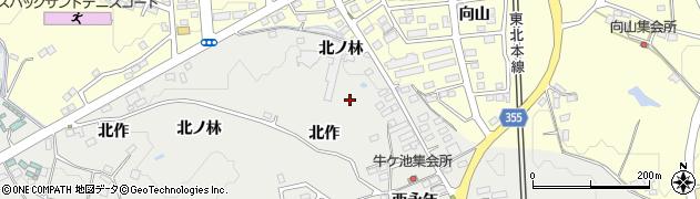 福島県郡山市富久山町八山田(北作)周辺の地図