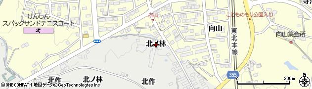 福島県郡山市富久山町八山田(北ノ林)周辺の地図