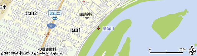 新潟県長岡市北山町周辺の地図
