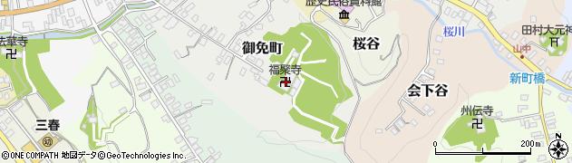 福聚寺周辺の地図