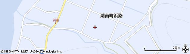 福島県郡山市湖南町浜路(下大平)周辺の地図