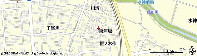 福島県郡山市日和田町(東河坂)周辺の地図