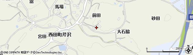 福島県郡山市西田町芹沢(前田)周辺の地図