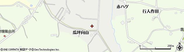 福島県郡山市熱海町下伊豆島(瓜坪向山)周辺の地図