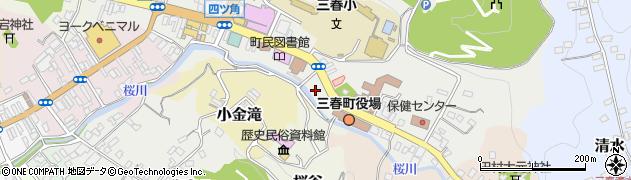 福島県田村郡三春町周辺の地図