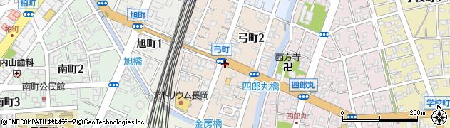 新潟県長岡市弓町周辺の地図