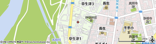 新潟県長岡市草生津周辺の地図