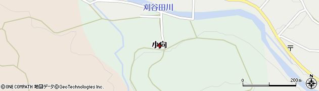 新潟県長岡市小向周辺の地図