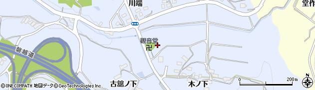 福島県郡山市西田町木村(津久田)周辺の地図