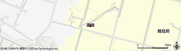福島県郡山市日和田町(菱池)周辺の地図