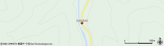 大谷(本村)周辺の地図