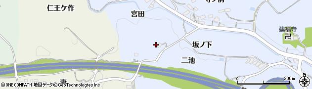 福島県郡山市西田町木村(坂ノ下)周辺の地図