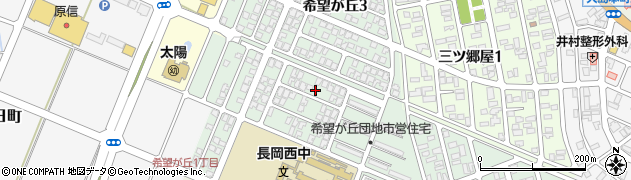 新潟県長岡市希望が丘周辺の地図