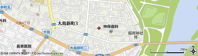 新潟県長岡市大島新町周辺の地図