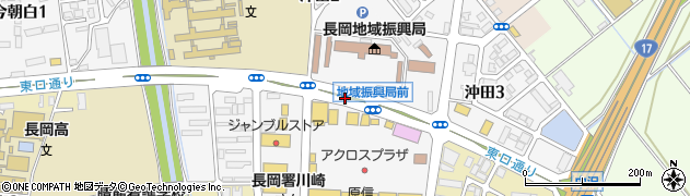 新潟県長岡市沖田周辺の地図