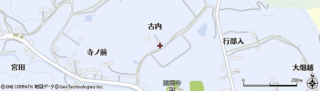 福島県郡山市西田町木村(古内)周辺の地図