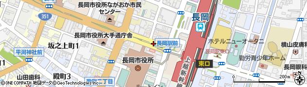 新潟県長岡市大手通周辺の地図