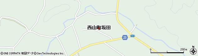 新潟県柏崎市西山町坂田周辺の地図