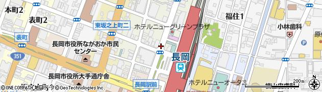 新潟県長岡市城内町周辺の地図