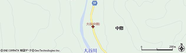 大谷(中際)周辺の地図