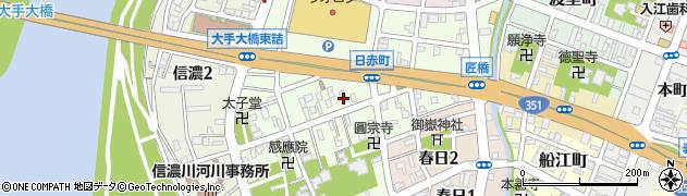 新潟県長岡市日赤町周辺の地図