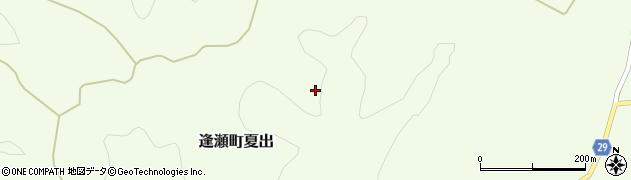 福島県郡山市逢瀬町夏出(新立山)周辺の地図