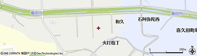 福島県郡山市熱海町下伊豆島(和久)周辺の地図
