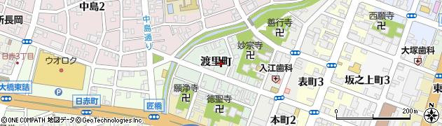 新潟県長岡市渡里町周辺の地図
