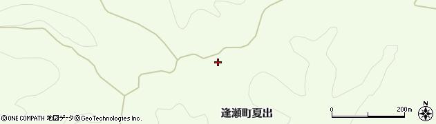 福島県郡山市逢瀬町夏出(事ケ前)周辺の地図