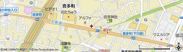 新潟県長岡市喜多町周辺の地図