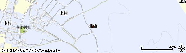 福島県会津若松市門田町大字堤沢(北山)周辺の地図